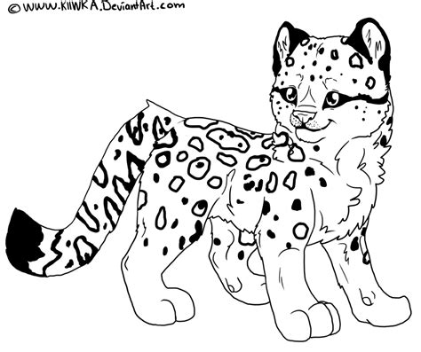Snow Leopard Coloring Pages snow leopard coloring page coloring home