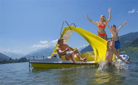 paddle boat zell am see accommodation hotels b bs holidays zell am see kaprun