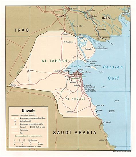 middle east map showing kuwait maps map kuwait