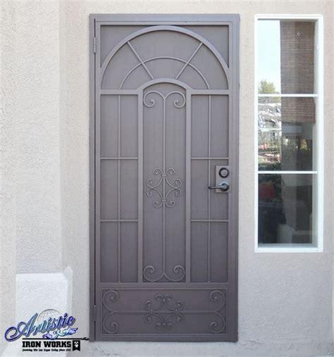wrought iron security screen door custom made powder