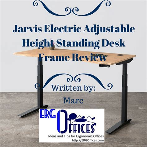 jarvis electric adjustable height standing desk frame black jarvis electric adjustable height standing desk frame