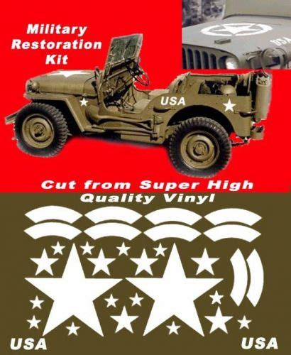jeep army star graphics decals for sale page 37 of find or sell auto