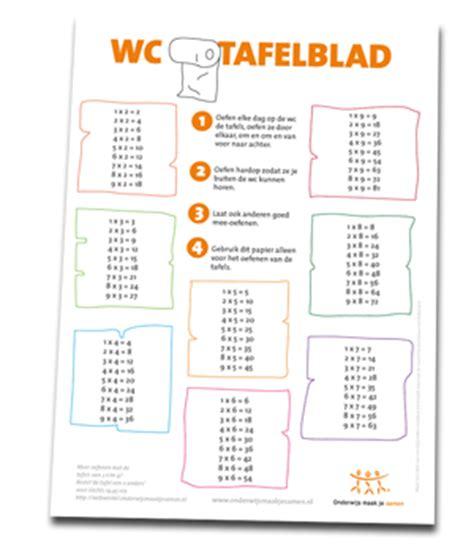 tafels poster wc tafels oefenen op het toilet onderwijs maak je samen
