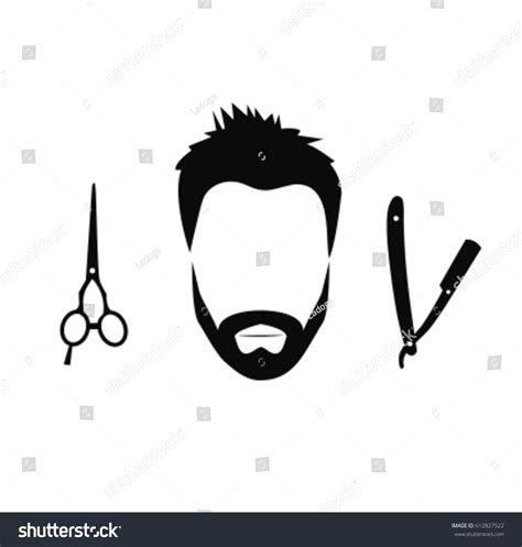 Hairstyle Tools Designs For Silhouette Cutting by Silhouette Barber Tools Haircut Icons Stock Vector
