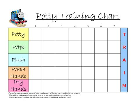 sticker chart template pin potty reward chart on