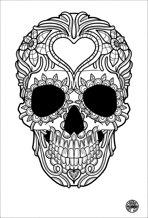 skull coloring pages for adults coloring pages skulls az coloring pages