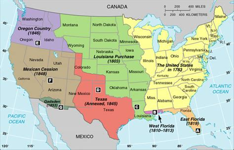map of the united states during westward expansion manifest destiny and the gold rush