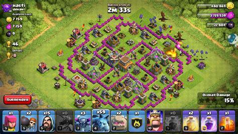 layout coc yang aman strategy penyerangan dragon minion dawndroid
