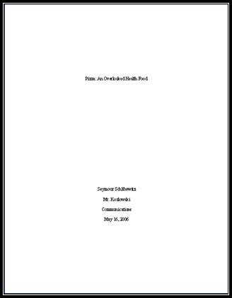 Essay Title Page by Exles Of Essay Titles