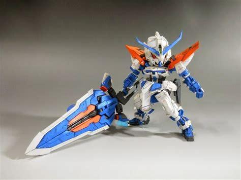 Gundam Paper Craft - one sd mbf p03 gundam astray blue frame
