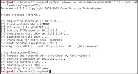 sans penetration testing psexec python rocks sans
