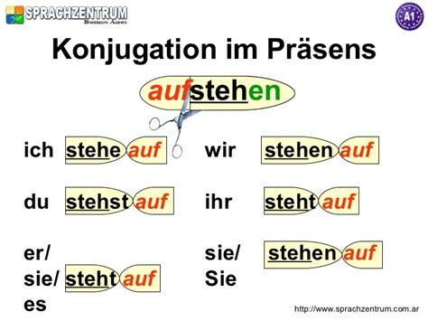 liegen konjugation trennbare verben