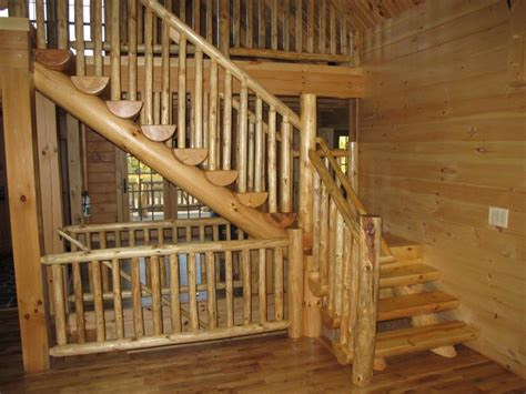 2 Bedroom Cabin Plans by Log Stairs And Custom Railings By Appalachian Designs