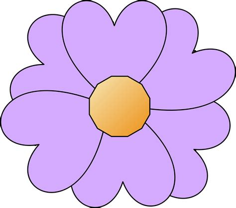 printable flowers clipart clipart simple purple flower