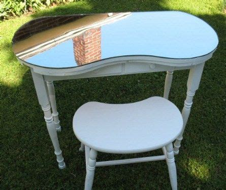 Kidney Shaped Vanity Stool by Reserved For Rich Vintage Kidney Shaped Vanity Table W