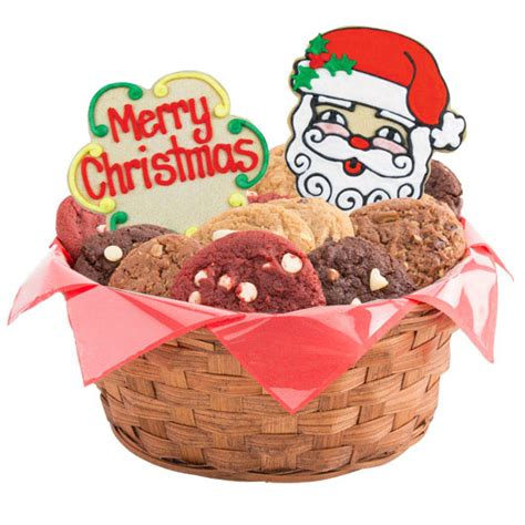 merry christmas gift basket christmas cookie basket
