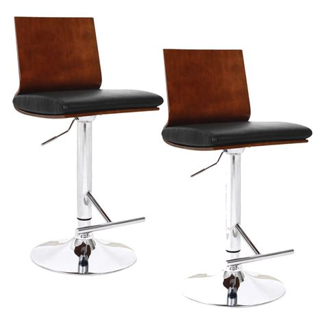 Leather Counter Stools With Backs Leather Bar Stools With Back Decofurnish