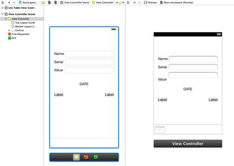 xcode storyboard layout tutorial ios how to preview storyboard in xcode using non base