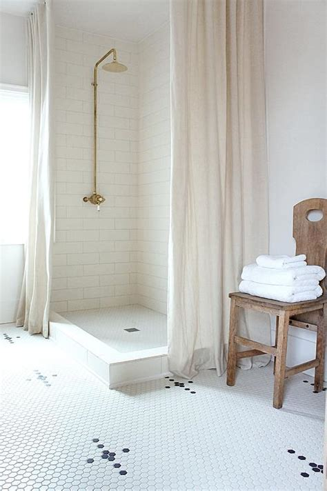 shower curtain for corner bath corner walk in shower with two linen shower curtains vintage bathroom