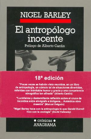 el antropologo inocente 8433925180 librer 237 a desnivel libros de literatura viajes gt 193 frica