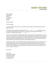 Cover Letter by Manager Cover Letter Exle Project Manager Cover Letter Exle