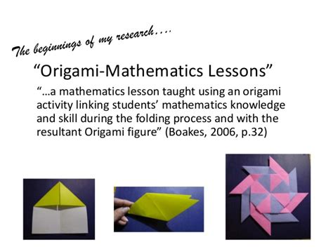 Origami Math Lessons - my origami journey from classroom to