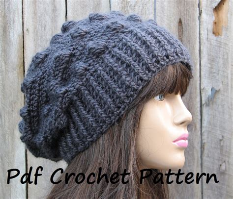 19 cool beanie designs and free hat patterns tip junkie crochet pattern crochet hat slouchy hat crochet