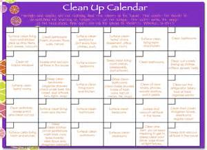 cleaning calendar template cleaning calendar