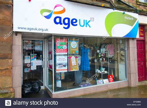 shops uk age uk charity shop in matlock derbyshire stock