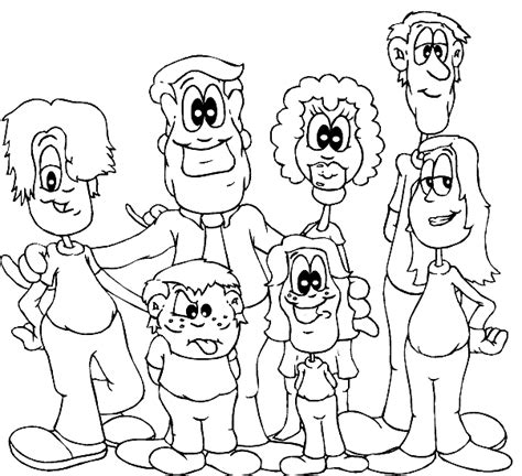 printable coloring page of family free coloring pages of family