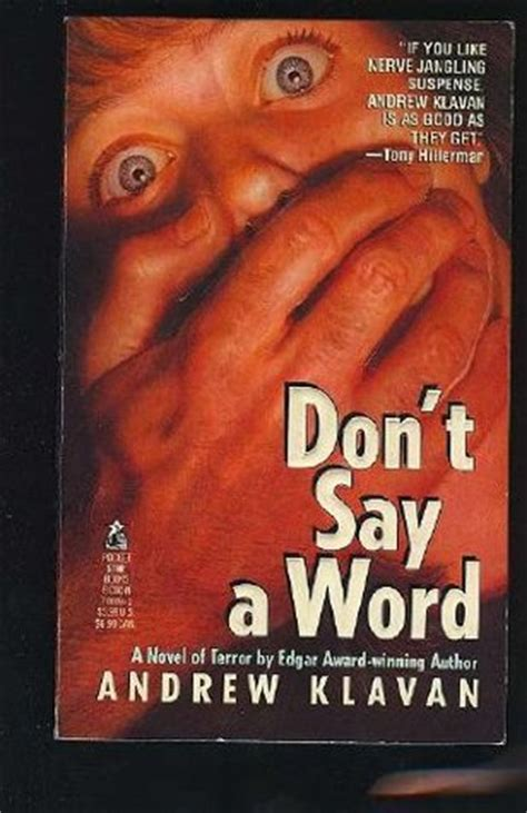 shhh don t say the a word books don t say a word by andrew klavan reviews discussion