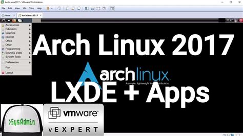 arch linux tutorial youtube arch linux 2017 installation lxde desktop apps