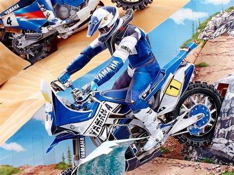 Yamaha Paper Craft - get ready for the dakar rally with new yamaha paper crafts
