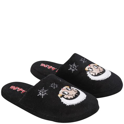 betty boop house shoes betty boop women s slippers black ebay