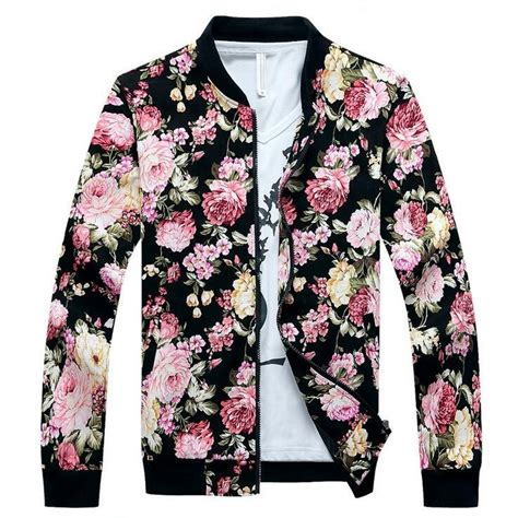 Floral Jacket aliexpress buy floral jacket flowers print