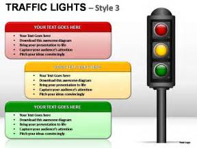 traffic lights style 3 powerpoint presentation slides