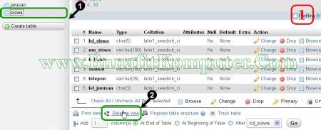 membuat tabel relasi database di membuat relasi antar tabel phpmyadmin bunafit komputer