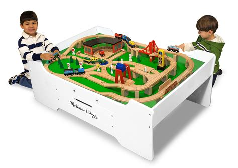 train table with drawers melissa doug train table wooden train table with