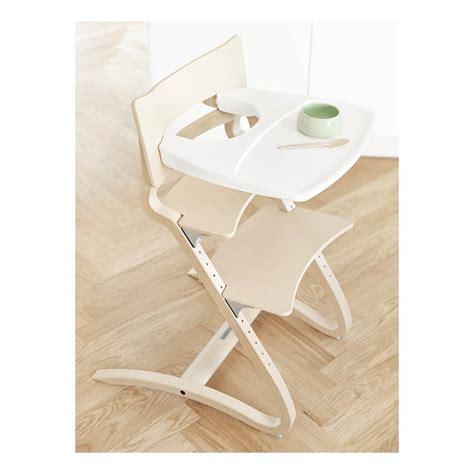 tablette chaise haute blanc leander design b 233 b 233
