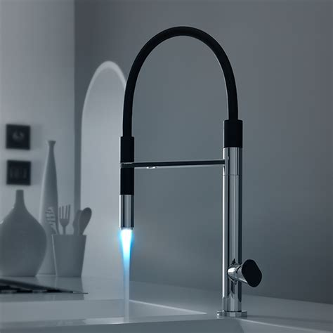 rubinetti con led miscelatore lavello con led rubinetterie quadro