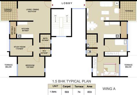 1 bhk floor plan floor plan saarrthi sinclair warje pune saarrthi