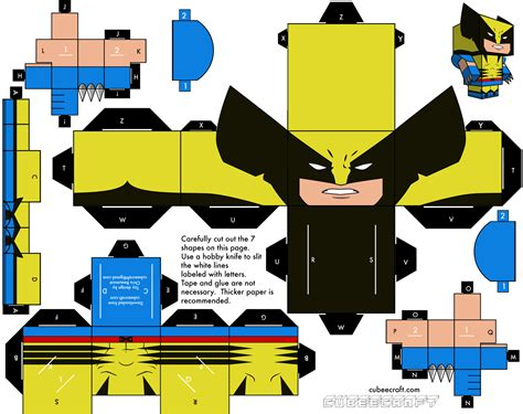 wolverine origami explore aki montar boneco wolverine
