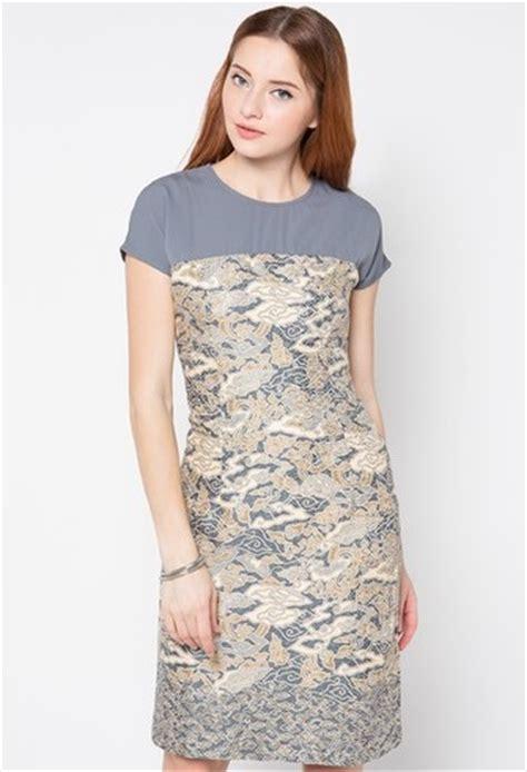 Dress Terusan Batik Wanita baju dress batik terusan modern model terbaru holidays oo