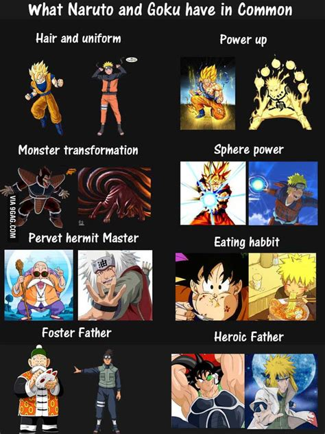 Naruto Vs Goku Meme - what goku and naruto have in common 9gag
