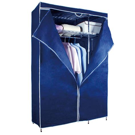 Metal Frame Wardrobe by Titus Metal Frame Wardrobe With Cover Blue
