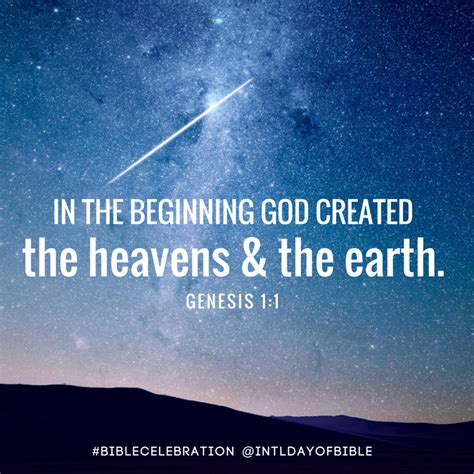 genesis verse 1 international day of the bible40 days of verses