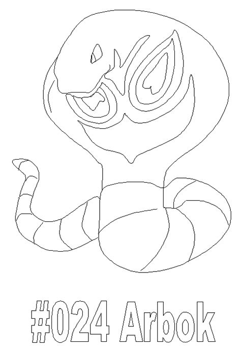pokemon coloring pages arbok coloring picture of pokemon 24 arbok