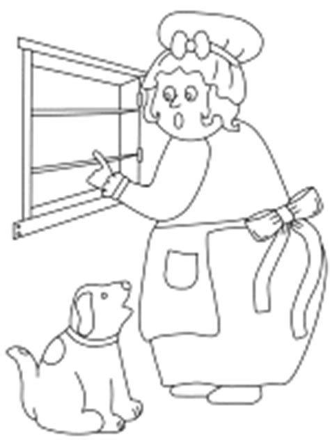 Old Mother Hubbard Coloring Pages Dltk Nursery Rhyme Coloring Pages