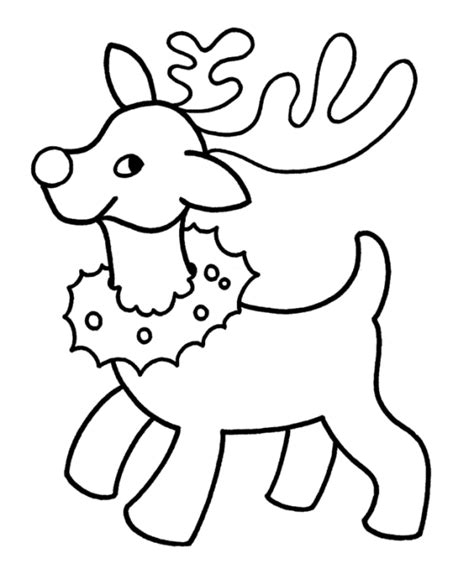 Reindeer Drawing Clipart Best Easy Coloring Pages Santa