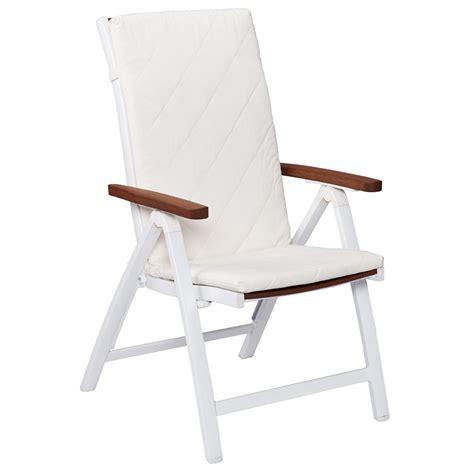 Medina Modern White Outdoor Folding Chair   Eurway